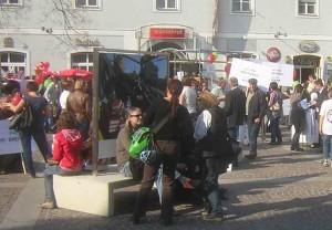 Protest gegen Sozialabbau in Land und Bund