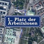 """Straßenschild """"Platz der Arbeitslosen"""""""