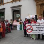 P25 Protestaktion vor dem Steirischen Landhaus