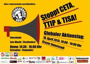 Aufruf zur Protestkundgebung am 18.4.