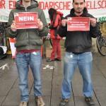 funke protestiert gegen prekäre Arbeitsverhältnisse