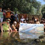 Protestaktion für eine frei fließende Mur in Graz