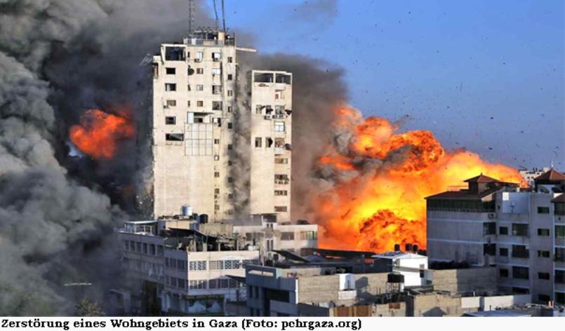 Zerstörung eines Wohngebiets in Gaza